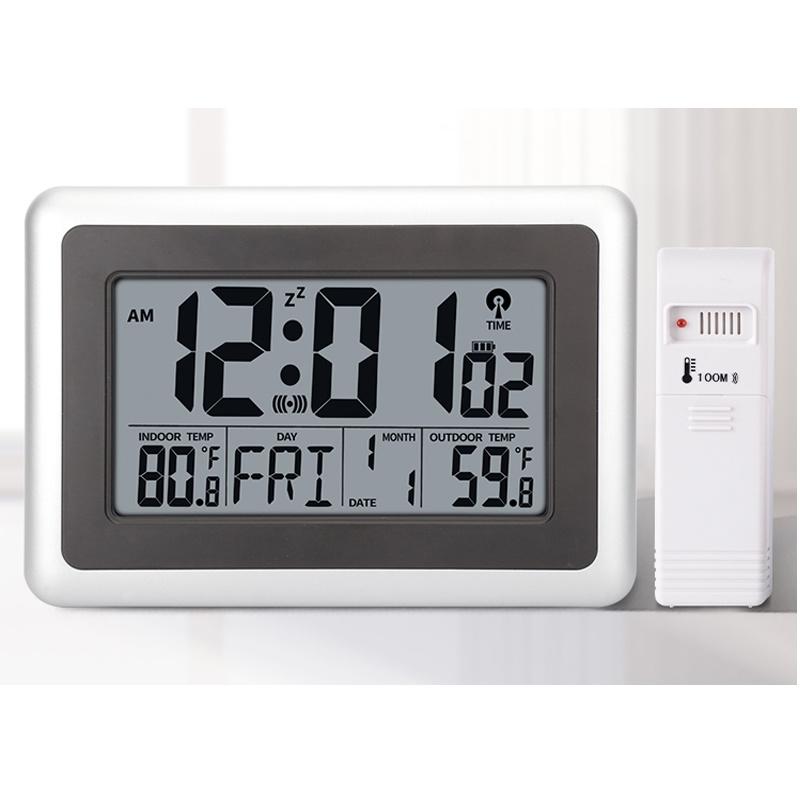China Atomic Wall Clock With Indoor, Atomic Wall Clock With Indoor Outdoor Temperature And Humidity