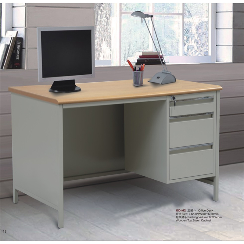 China Standard Office Desk With Locking, Desk With Locking Drawers