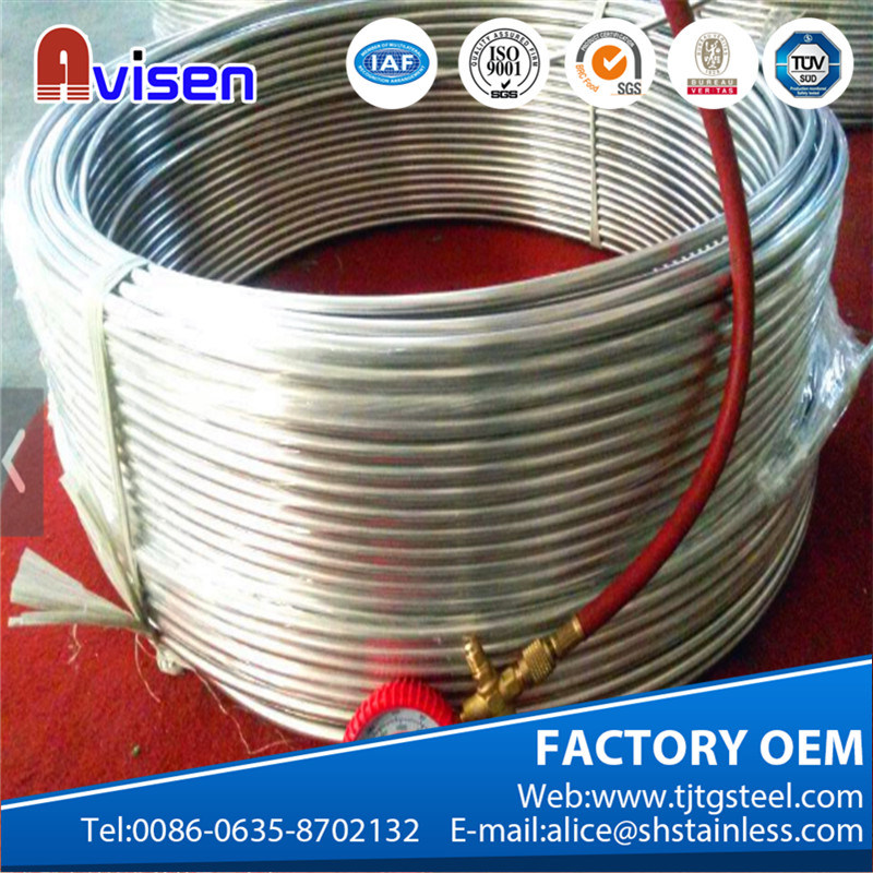 ASTM A312 Stainless Steeel Coil Pipe Alloy 625 Steel Tube pictures & photos