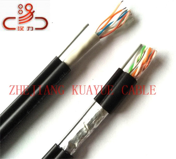 LAN Cable Outdoor CAT6 4X2X0.57/Computer Cable/Data Cable/Communication Cable/Audio Cable/Connector pictures & photos