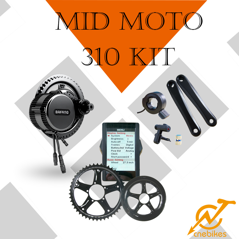 [Hot Item] 48V 500W Color Display MID Crank Motor Kit Electric Bicycle