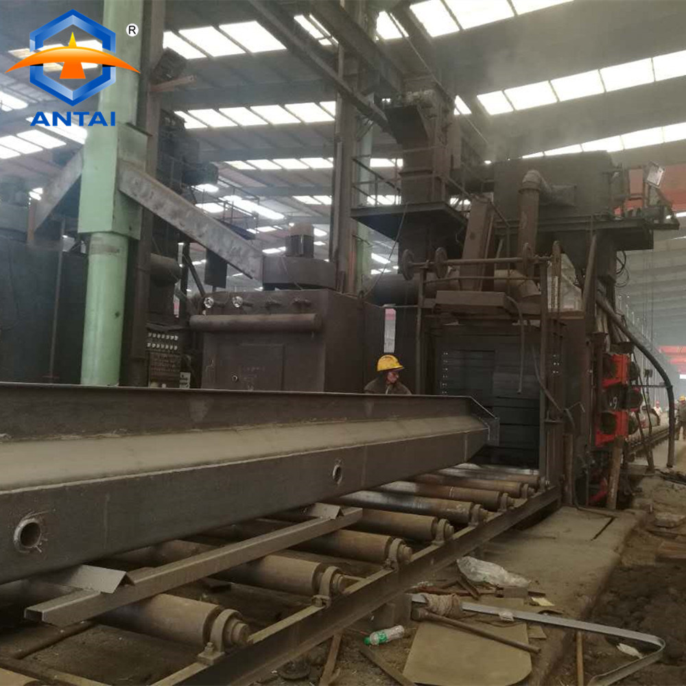 [Hot Item] Q69 H Steel Structure Roller Conveyor Shot Blasting machinery  Price & Sand Blasting Equipment