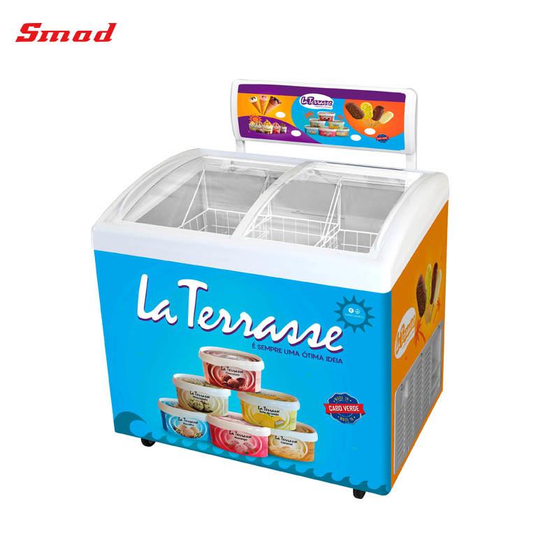 China Small Ice Cream Freezer Glass Door Display Freezer Photos