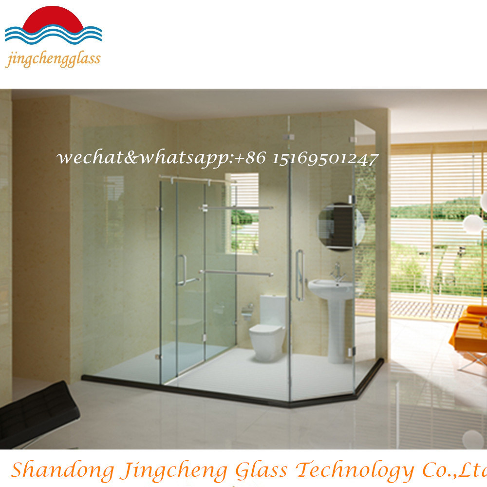 [Hot Item] 4-19mm Frameless Glass Door Frosted Tempered Glass /Bathroom  Showeroom/Sunroom Toughened Glass with Notch / Cutout/Slot/Groove/Drilling