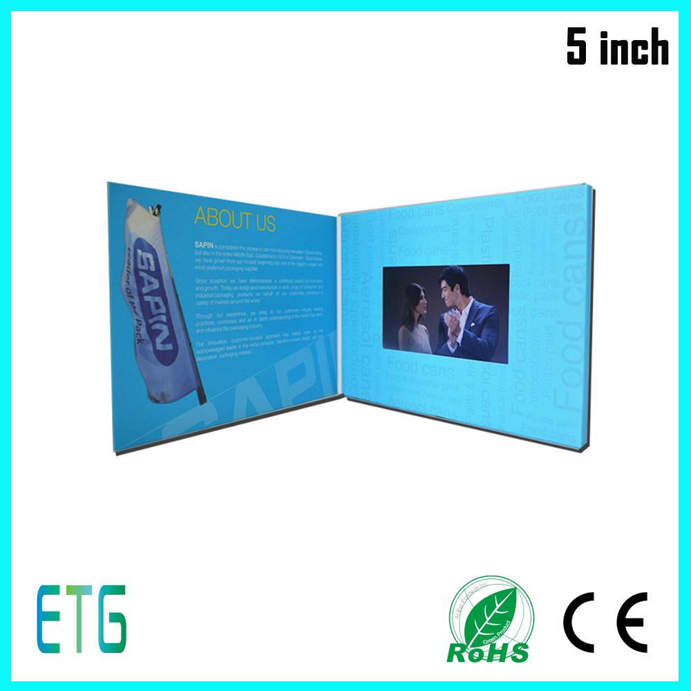 China 5 Inch Ipshd Screen Video Greeting Cards For Best Regards