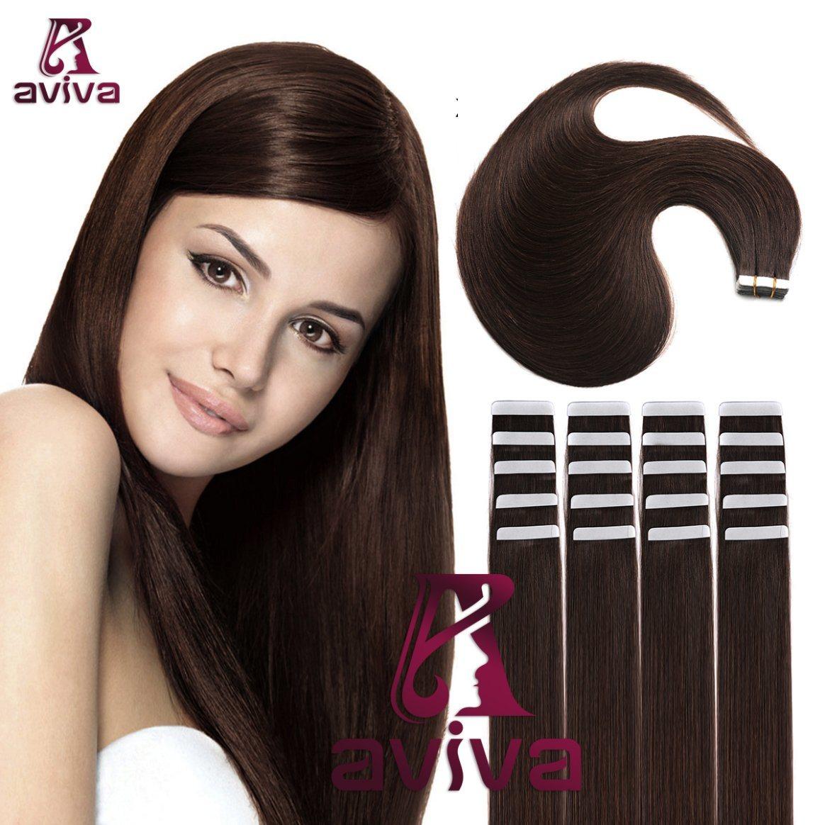 China Aviva Hair Extension Tape In Human Hair Extension Virgin Hair