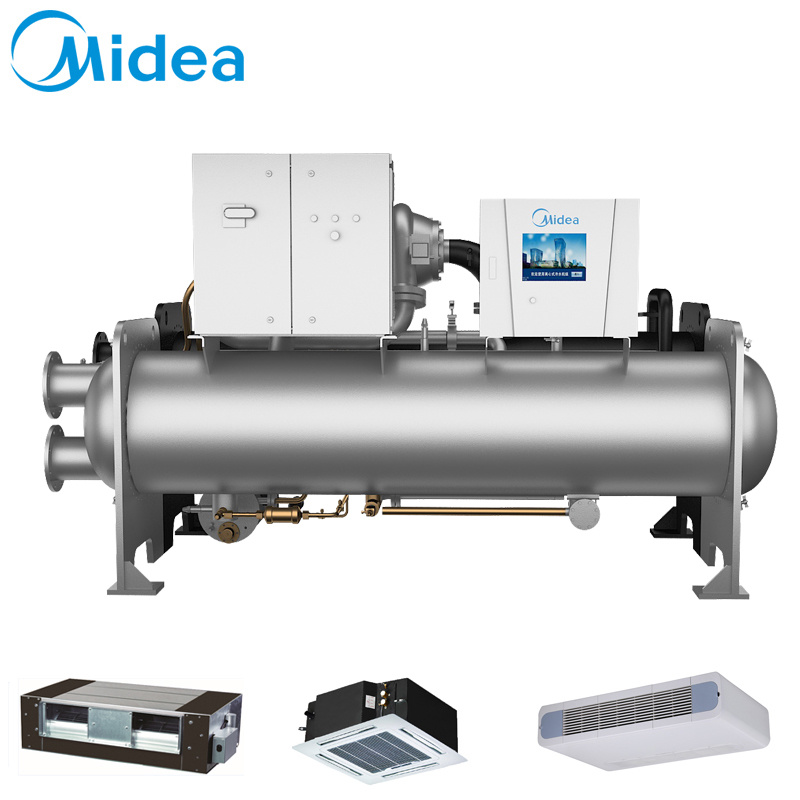 Midea Two-Stage Compressing 300rt Ccwf300EV 1055kw Inverter Direct-Drive Centrifugal Water Chiller China