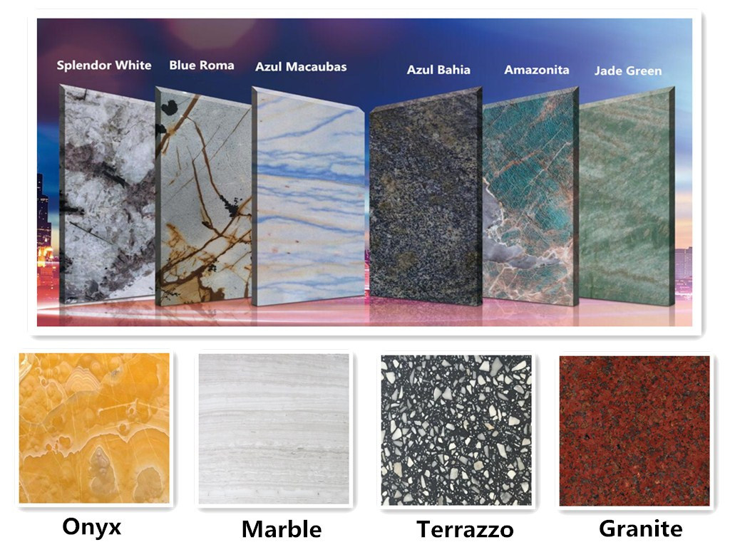 China Natural Stone White Black Yellow Blue Grey Brown Red
