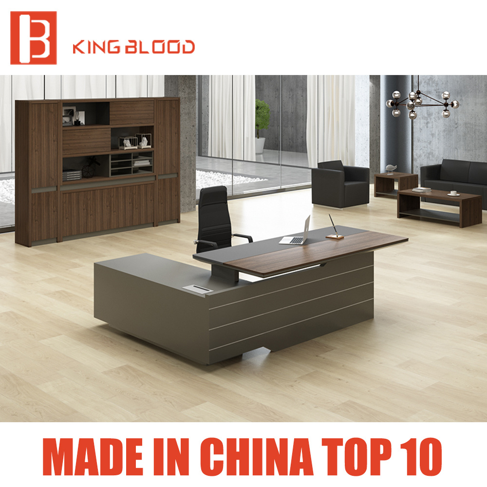 - China Office Furniture Suppliers Modern L Shaped Computer Desk