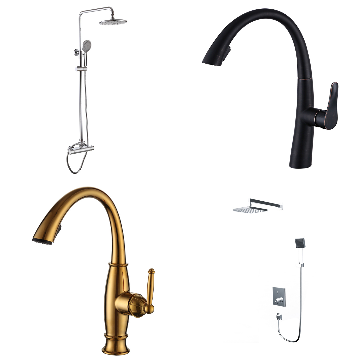 China Shower System Bathroom Faucet Set With Rainfall Shower