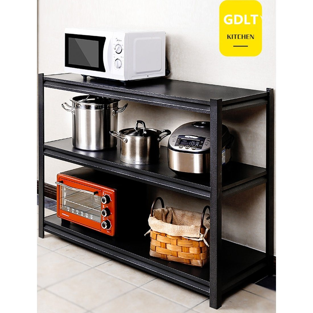 China Boltless Steel Kitchen Rack Floor Type 9 Shelf Display ...