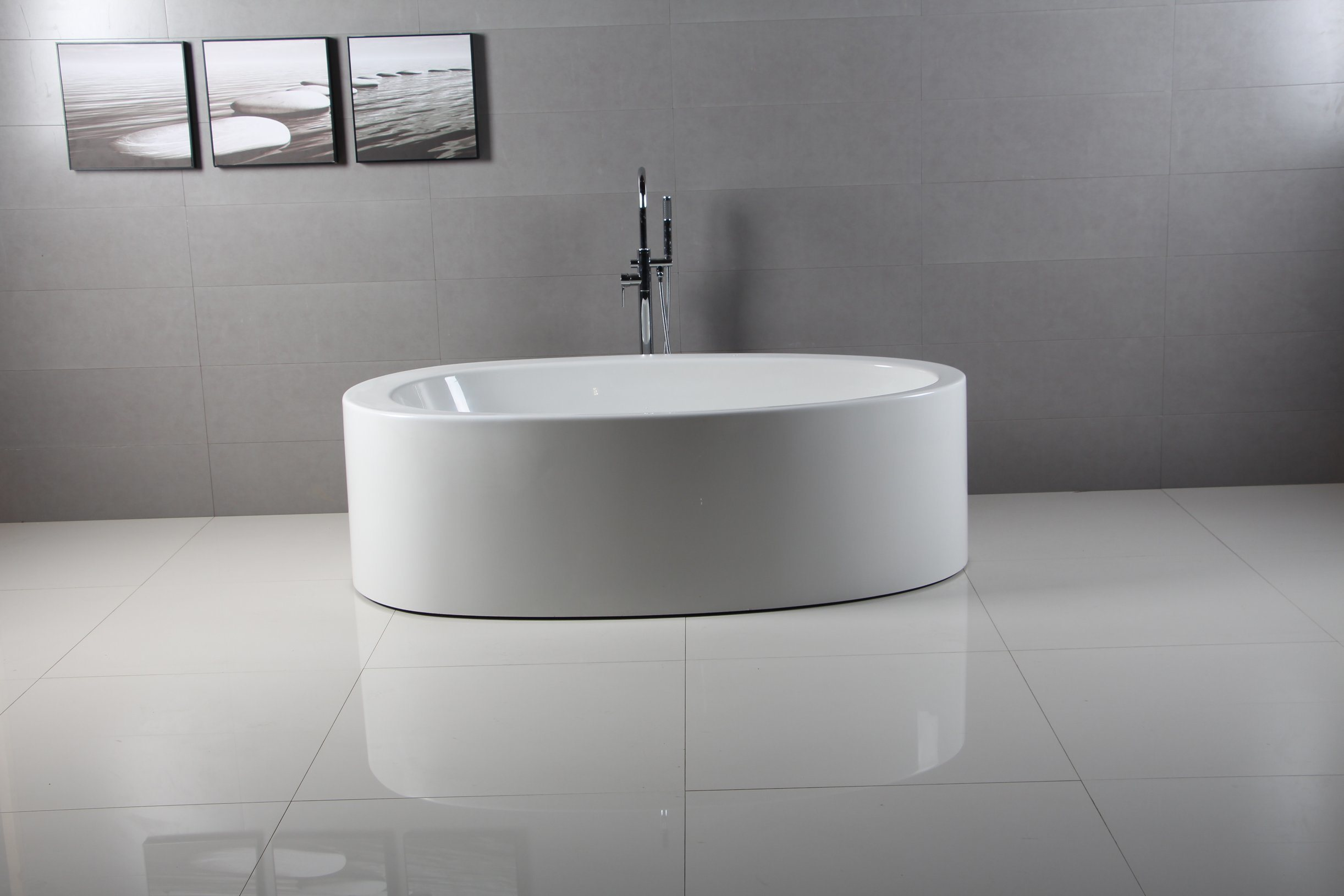 China One Piece Deluxe Italy New Design Oval Bathtubs Waltaml