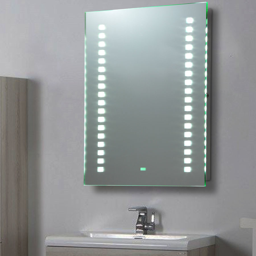 China LED Lighted Vanity Bathroom Mirror With Motion Sensor Switch And Demister Pad Fldj60130d