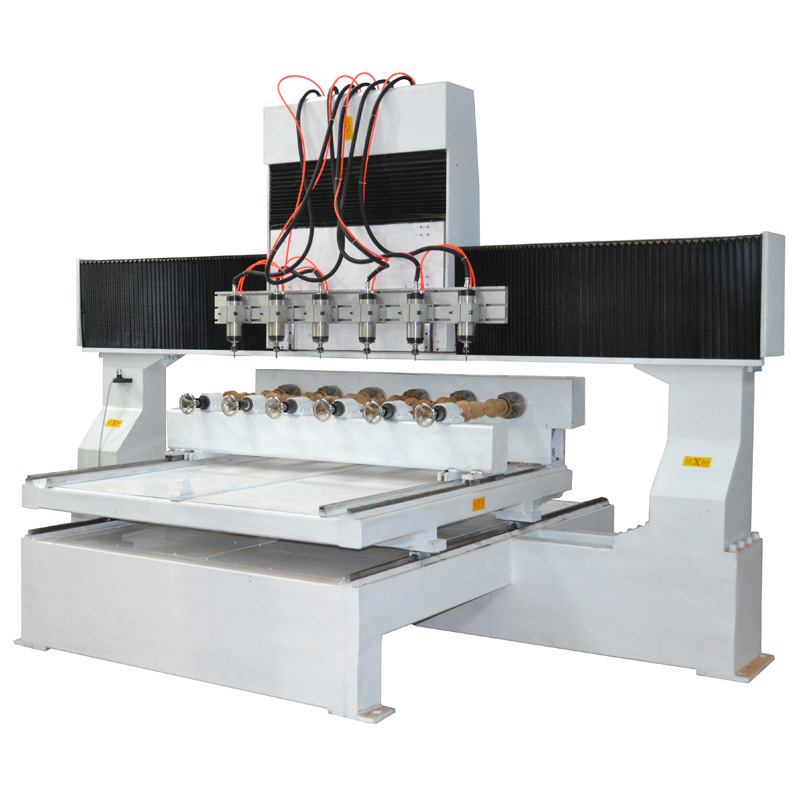 3D Engraving, 8 Multi-Spindles, Woodworking 4 Axis CNC Router