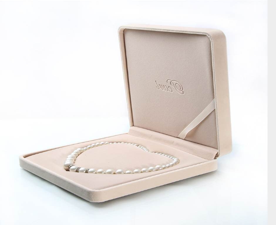 Hot Item Jewelry Box Custom Luxury Velvet Pearl Necklace Gift Box