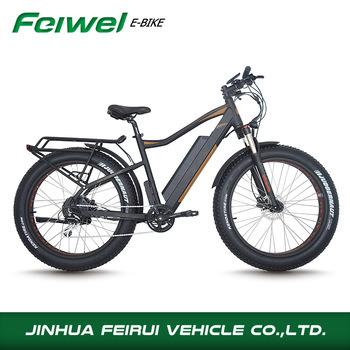China Fat Tire Electric Bike Frame Battery Rack Included Tektro ...