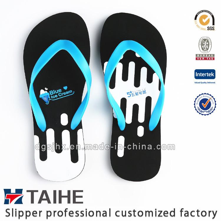 0410043c1cbdc1 China Hot Sell Hollowed-out Custom Printed EVA Flip Flops for Men ...