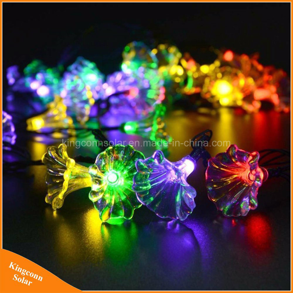 Hot Item 50led Morning Glory String Lights Colourful Outdoor Decoartive Hanging Solar Lights