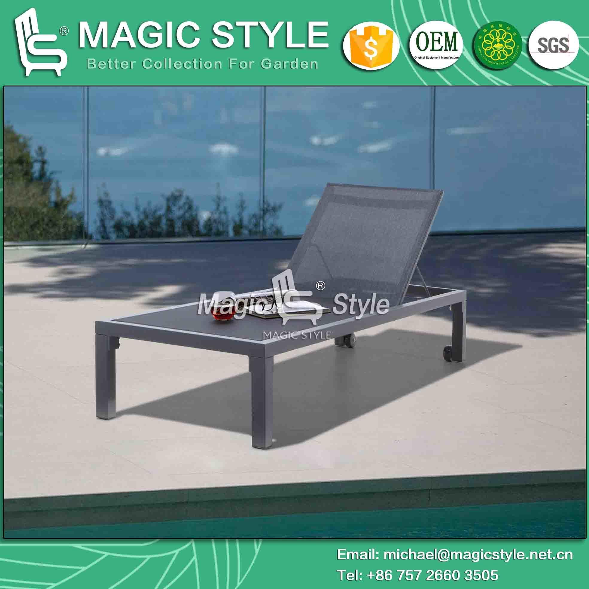 Lounge Garden Sling Sunlounger Aluminum