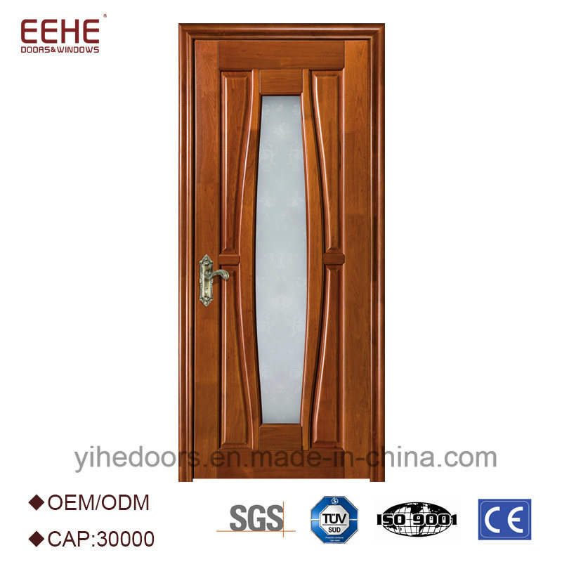 China Cheap Simple Design Lattice Wooden Doors With Glass Photos