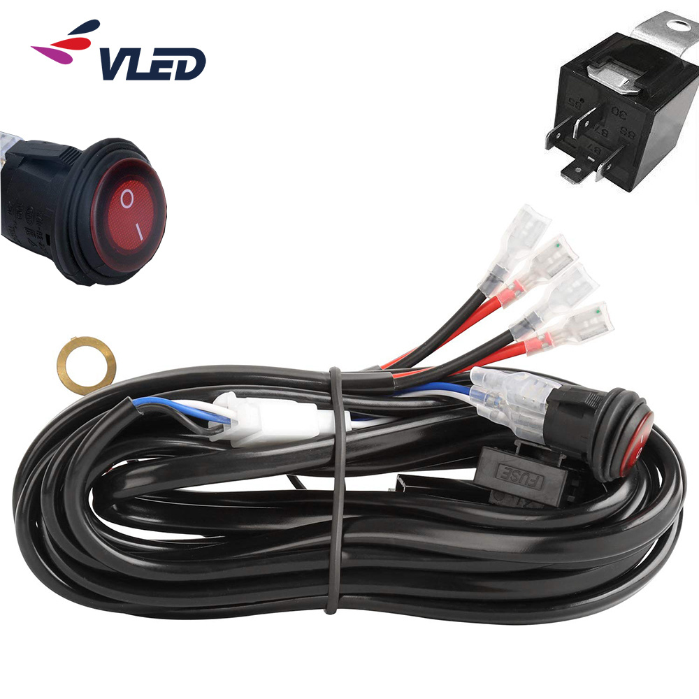 [Hot Item] Auto Electronic Parts LED Driving Light HID Wiring Harness on hid wiring-diagram, led 12v light wiring, oil pressure gauge wiring, fuse block wiring, hid wiring to a 02 impala, cigarette lighter wiring,
