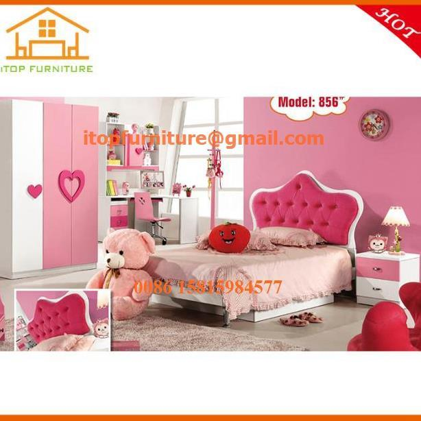 China Pink Cheap Children Smart Princess Kids Bedroom ...