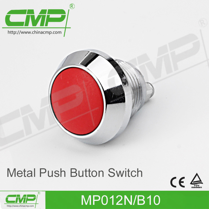 CMP 12mm Copper Plated Push Button Switch with Round Head