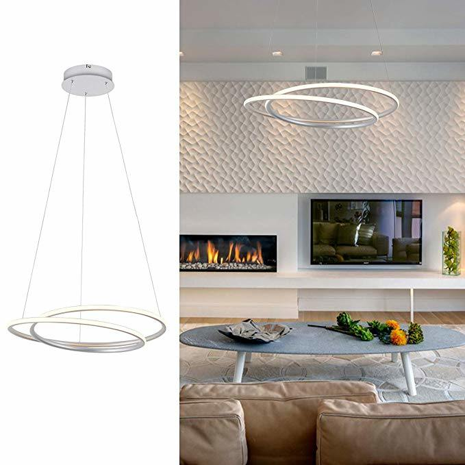 Hot Item Contemporary Led Chandelier Light Circular Hanging Lighting Fixture Interlaced For Living Dining Room Bedroom Warm White