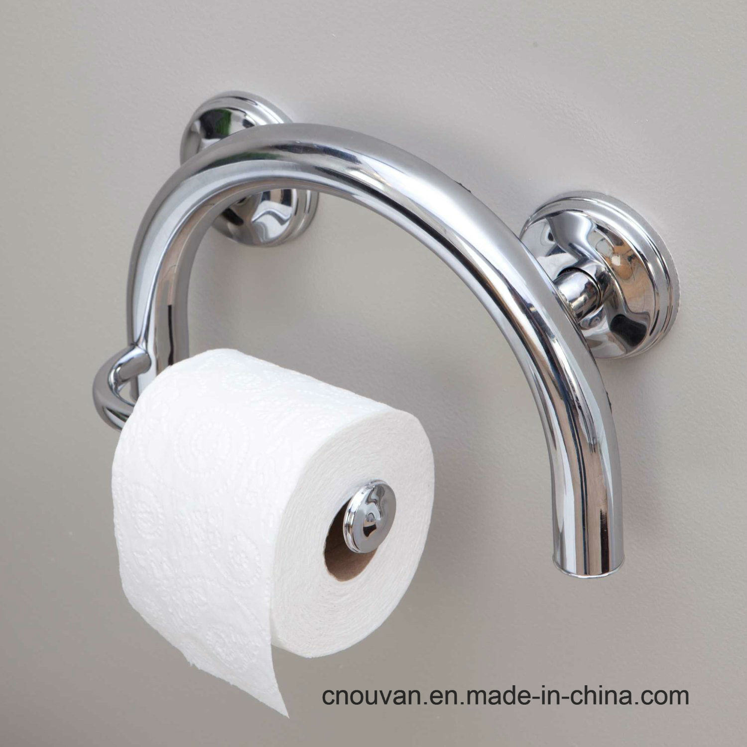 China Grab Bar Toilet Paper Holder With Grips And Anchor