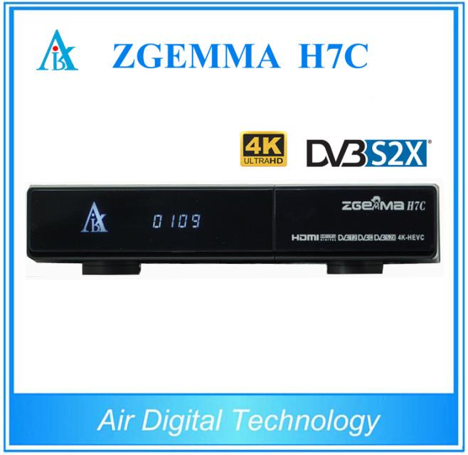 [Hot Item] Zgemma H7c DVB-S2X+2*DVB-T2/C 4K Satellite Receiver with IPTV
