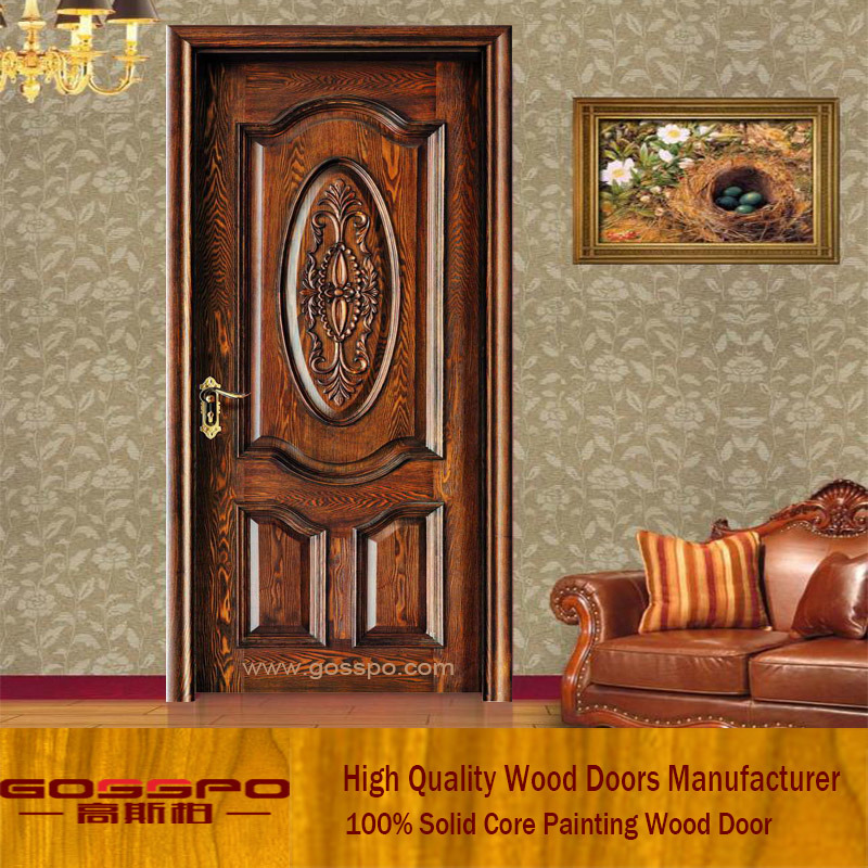 . Hot Item  Latest Design Interior Single Leaf Wooden Door  GSP2 009