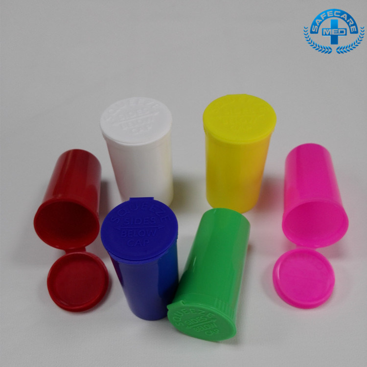 Disposable Pharmaceutical Container Plastic Packaging Bottle Rx Pop Top Vials