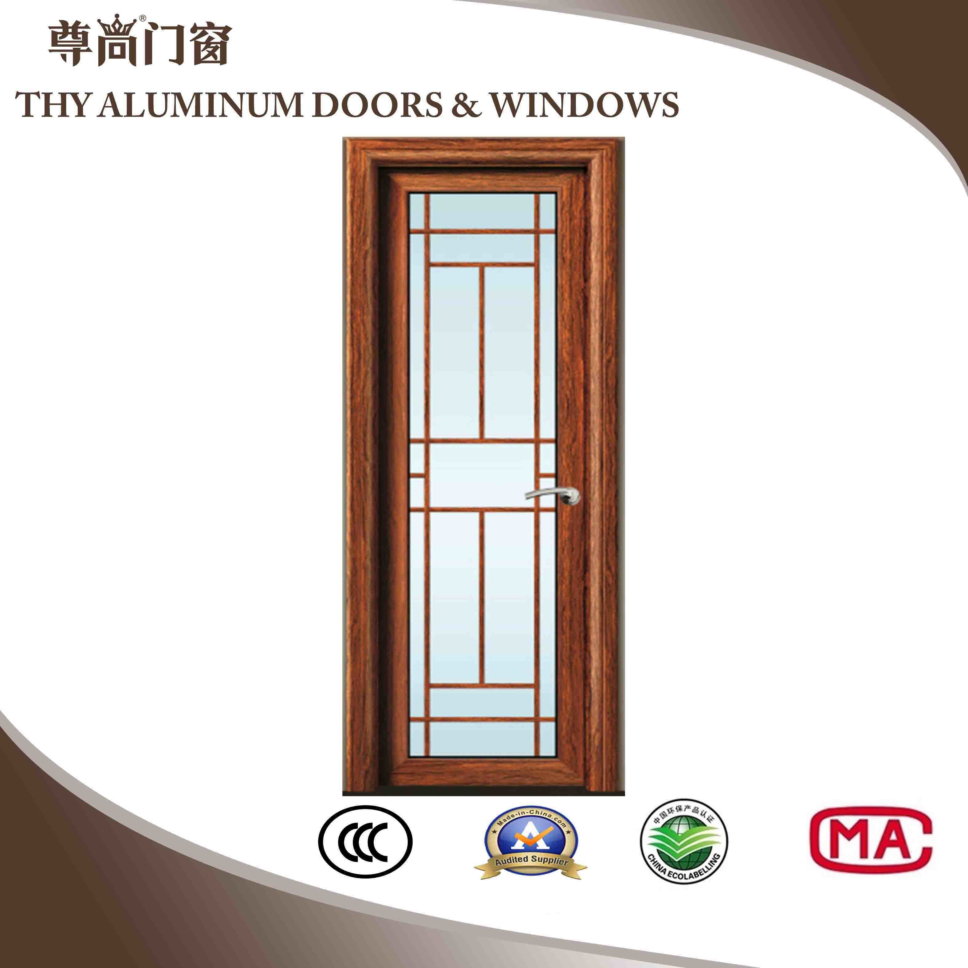 China Aluminum Glass Door With Single Glass Double Glasses Triple