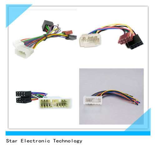 china car radio video audio cd player iso wire harness with auto rh starconnect en made in china com