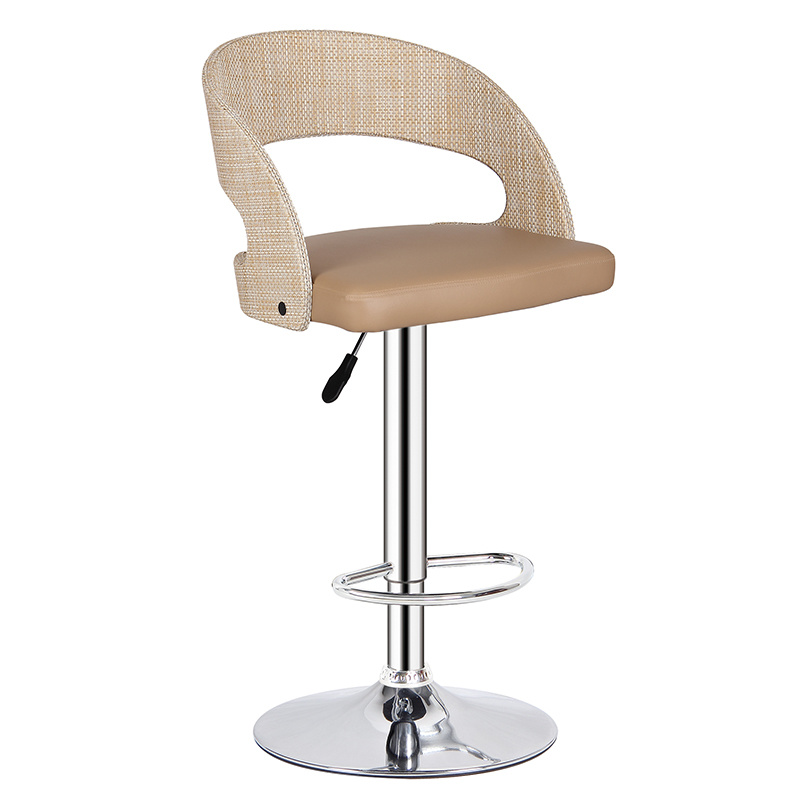 Excellent Hot Item Classical Stainless Steel Round Base Dining Leather Bar Chair Fs Wb091T Creativecarmelina Interior Chair Design Creativecarmelinacom