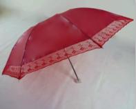China 3 Fold Parasol Personal Lady Pink Sun Umbrella China