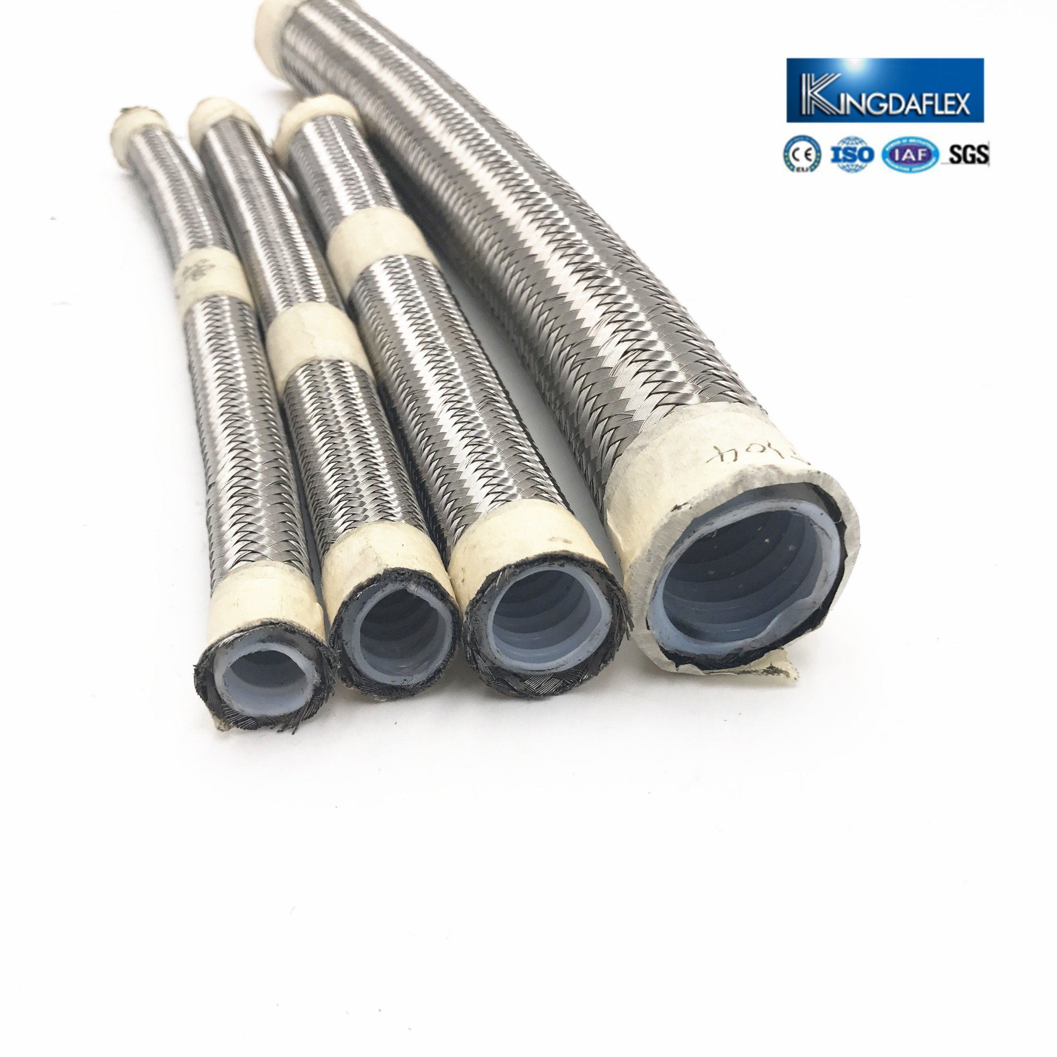 China SAE100 R14 Flexible Steel Wire Braided PTFE Teflon Hose ...