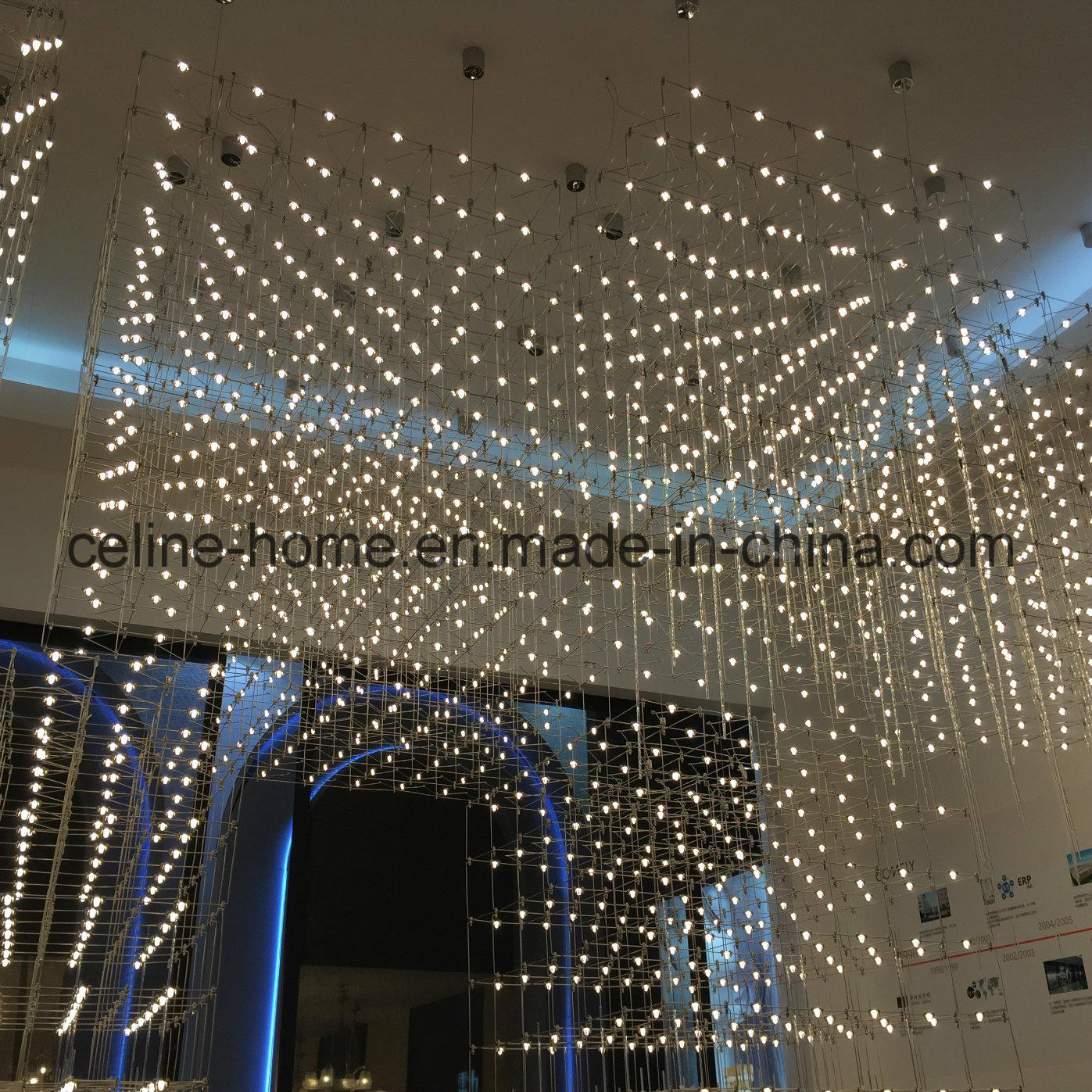 China Modern Led Quasar Universe Square Chandelier Hotel
