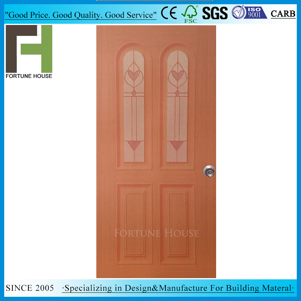 China Solid Wood Modern Construction Plywood Interior Flush Door