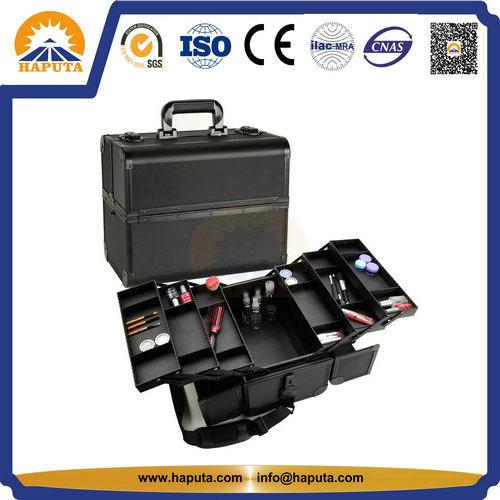 China Professional Black Aluminum Make Up Case W 6 Trays Hb 3213