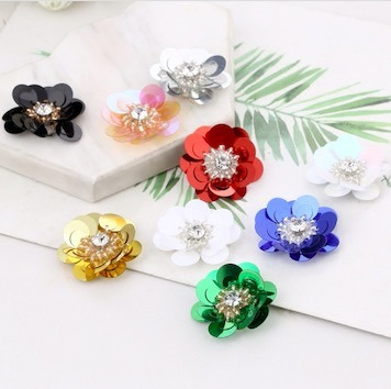 Handmade sequined resin earrings