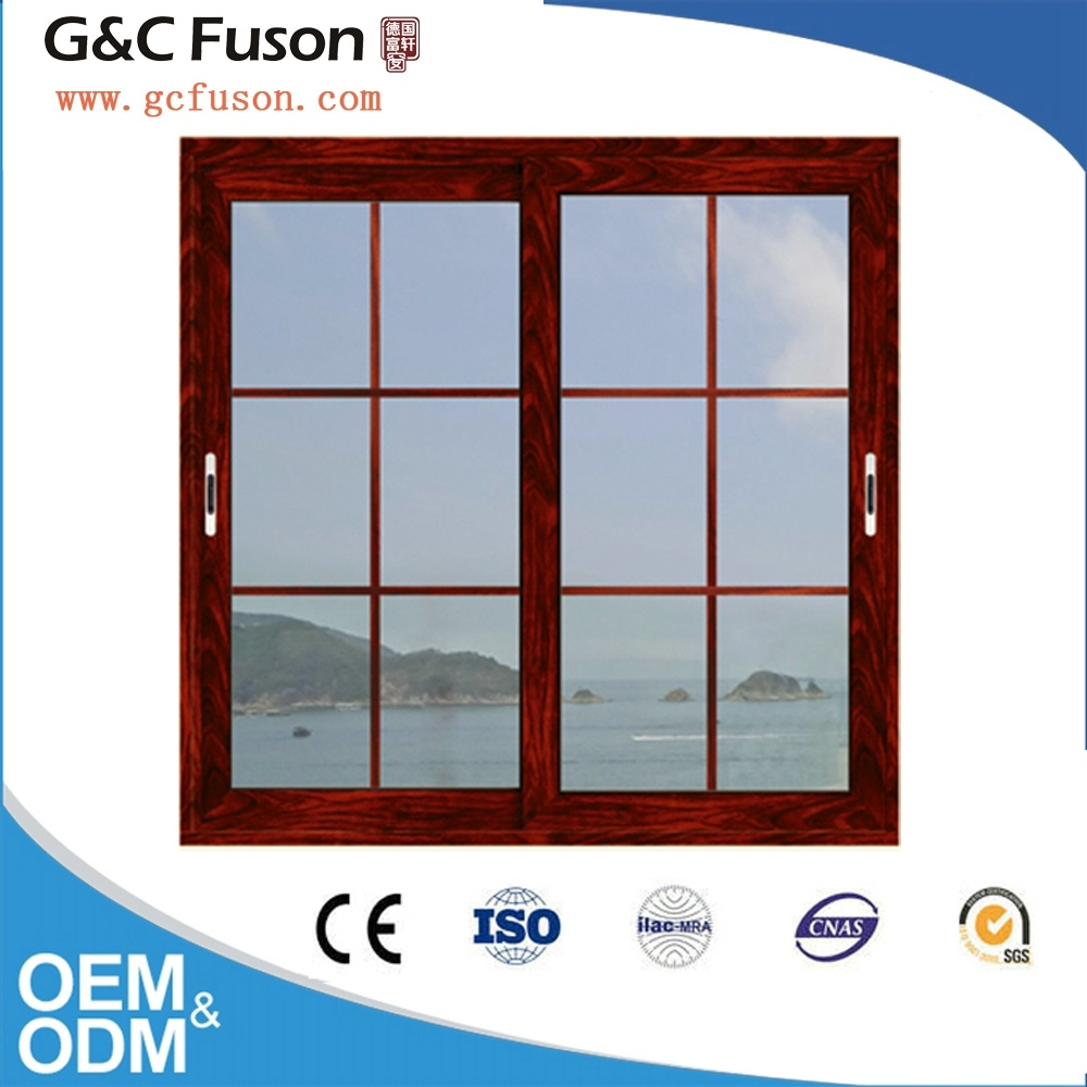 New Model Aluminium Profile Double Glazing Sliding Window Grill Design pictures & photos