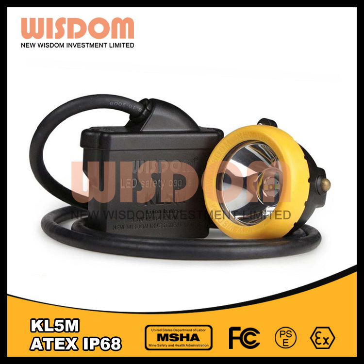 Shenzhen Wisdom Waterproof IP68 LED Coal Miner Lamp, Headlamp Kl5m pictures & photos