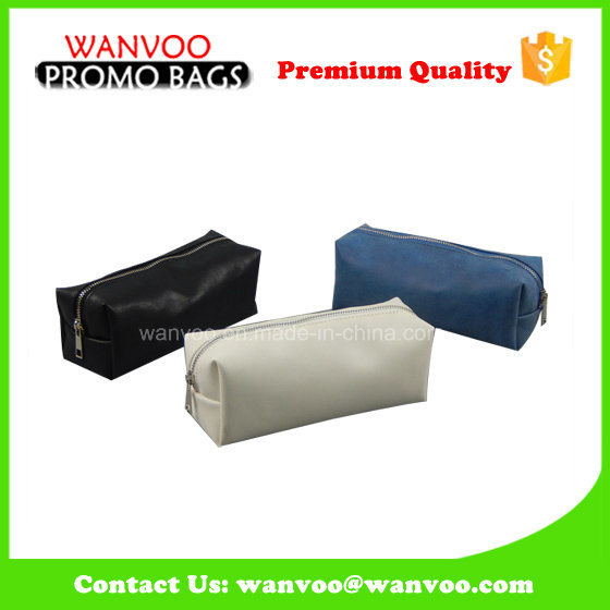 Clean Promotional Cotton PVC PU Toiletry Cosmetic Bag for Pouch pictures & photos