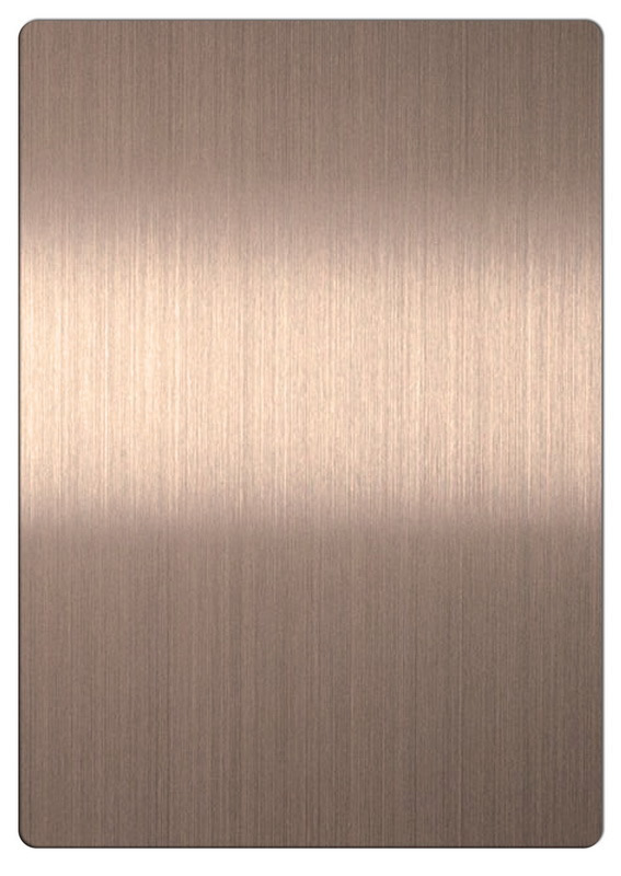 China Bronze Color 201 Stainless Steel Sheets With Brushed