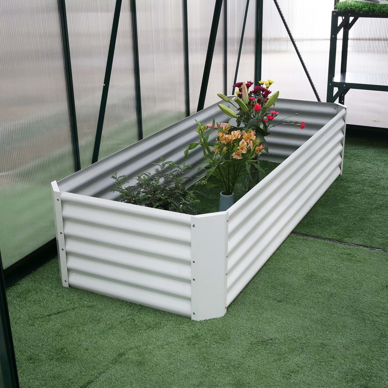 New Style Galvanized Steel Powder Coated Raised Garden Bed For Vegetable Flower Planter Edge Rdsg2008045 Wo China Raised Garden Bed And Raised Garden Planter Price Made In China Com