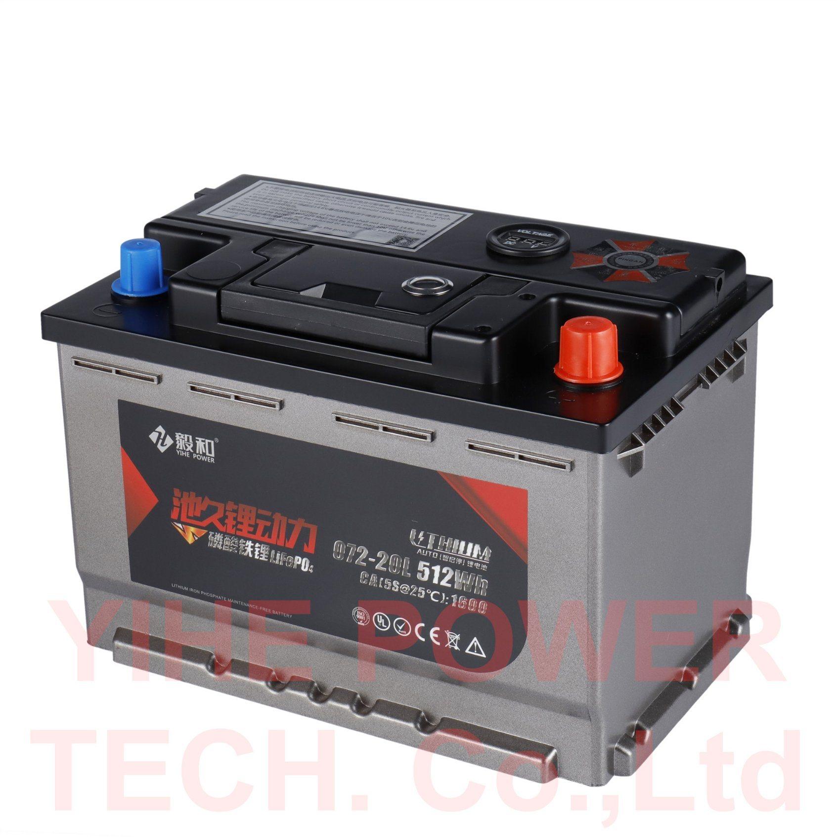 Lithium Car Battery >> China 12v Lithium Car Start Stop Battery 66ah 072 20 China Car