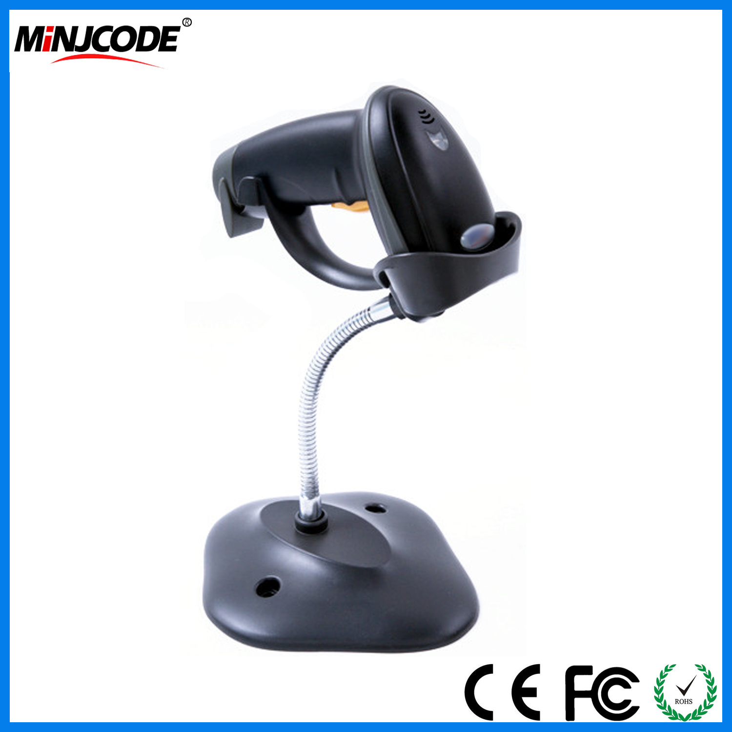 [Hot Item] Hands Free Barcode Scanner Reader with Bracket, High Speed 1d  Automatic Auto Sense Mj2809at
