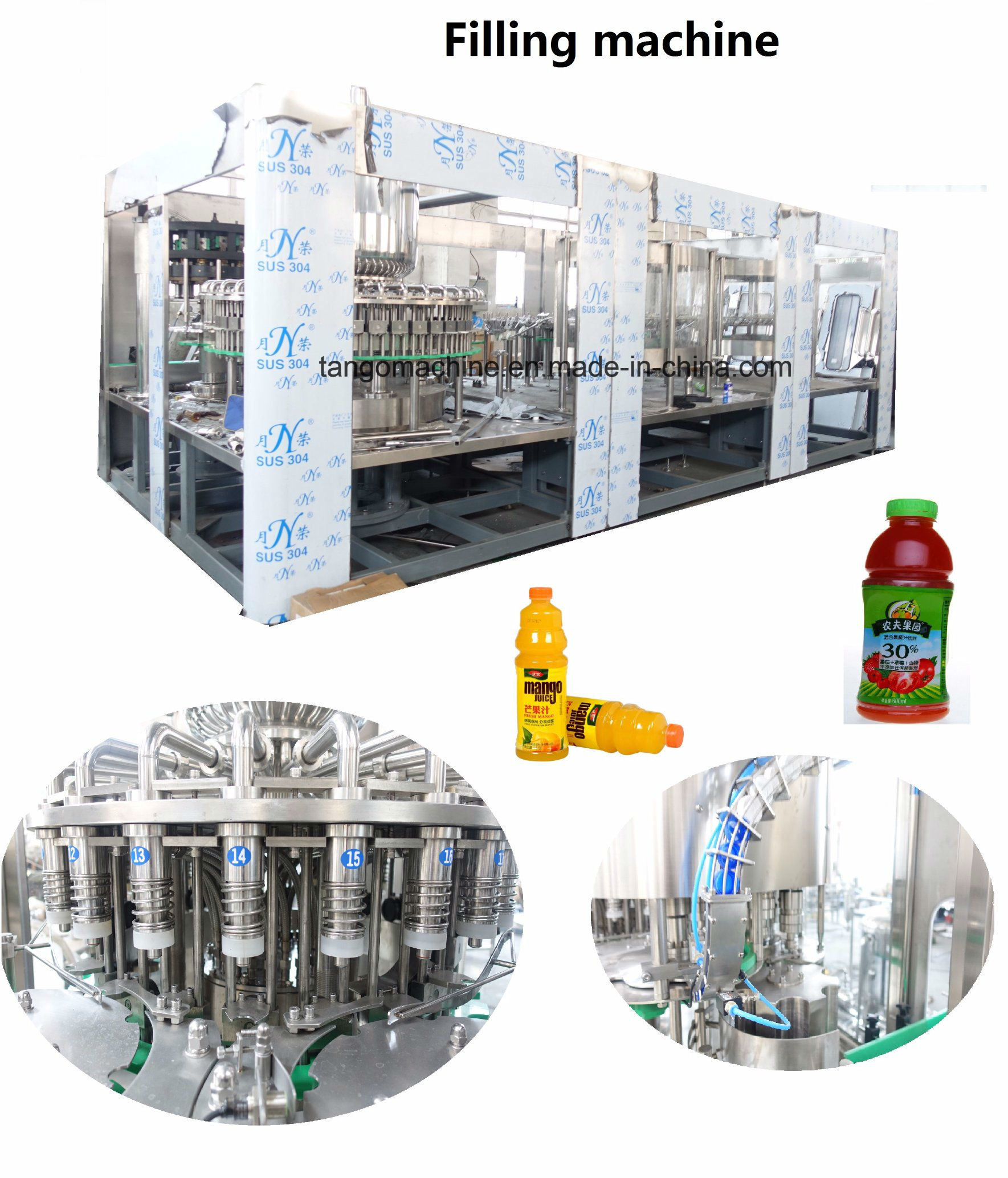 Juice Complete Processing  Mono-Bloc Bottling Filling Machine for Orange Mango Apple Pineapple pictures & photos