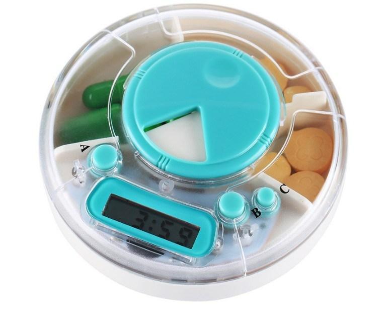 China Unique Design Round Travel Pill Organizer Pill Box with Timer - China Pill  Vitamin Storage Box 9541e131e129
